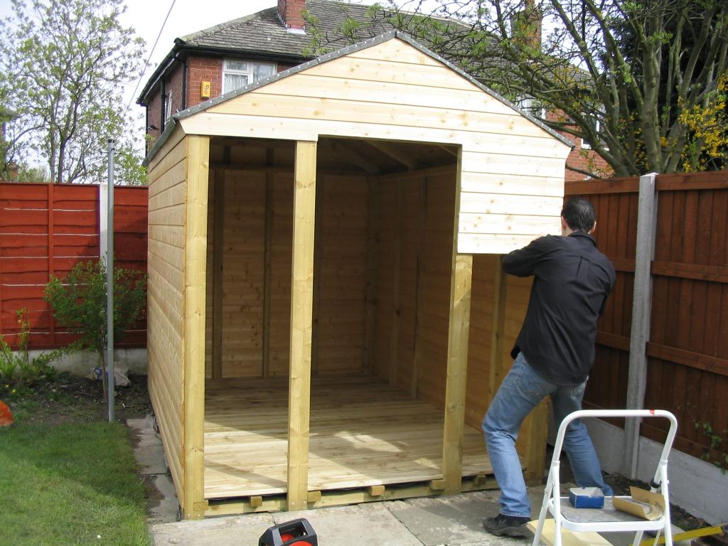 Build a shed inspiration for woodworking diy projects for Kits for building a house