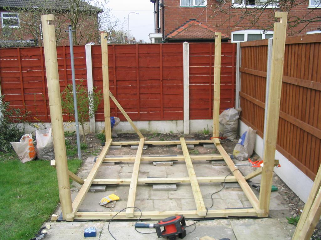 Building a shed all about bicycle storage shed plans for Garden shed floor ideas
