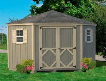 Corner sheds shed plans kits for Corner garden shed designs