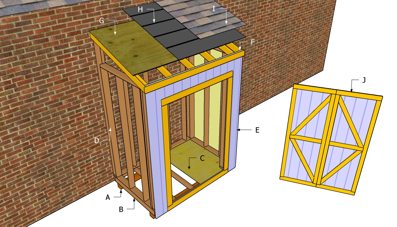 Lean to shed design shed plans kits for Lean to plans free