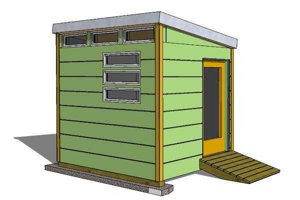 Modern shed designs shed plans kits for Office design 10x10