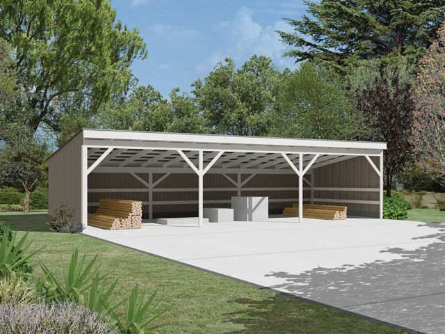 How to build a pole shed plans quick woodworking projects for Wood pole barn plans free