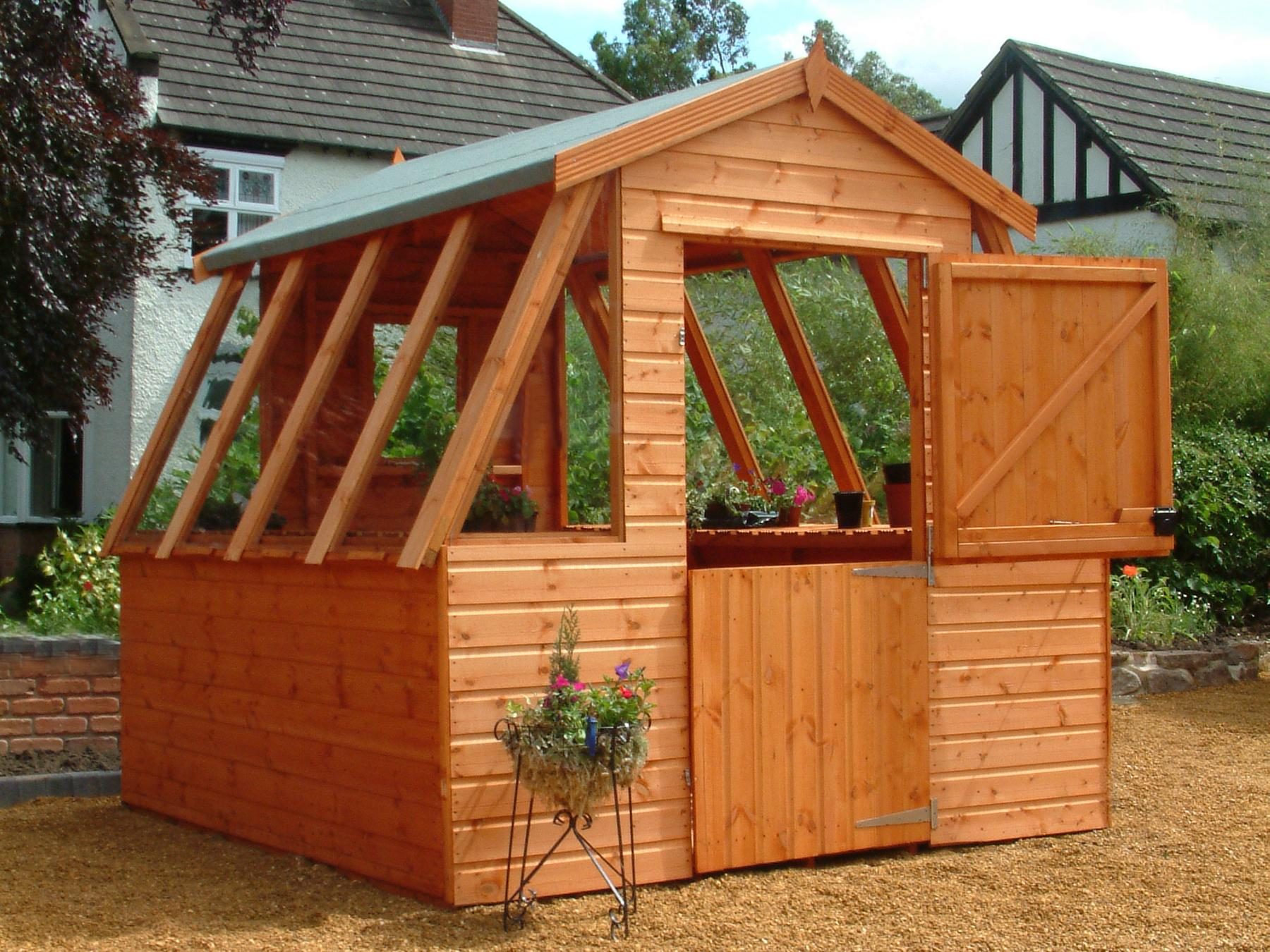 Potting sheds designs obtaining free shed plans on the Free greenhouse plans and designs