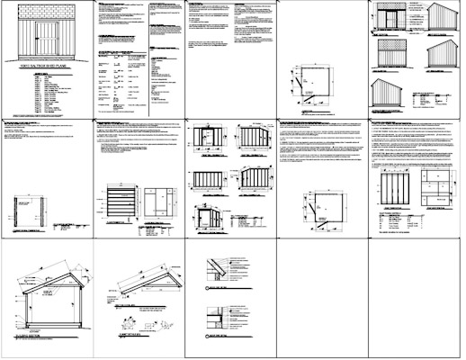Free Saltbox Wood Shed Plans