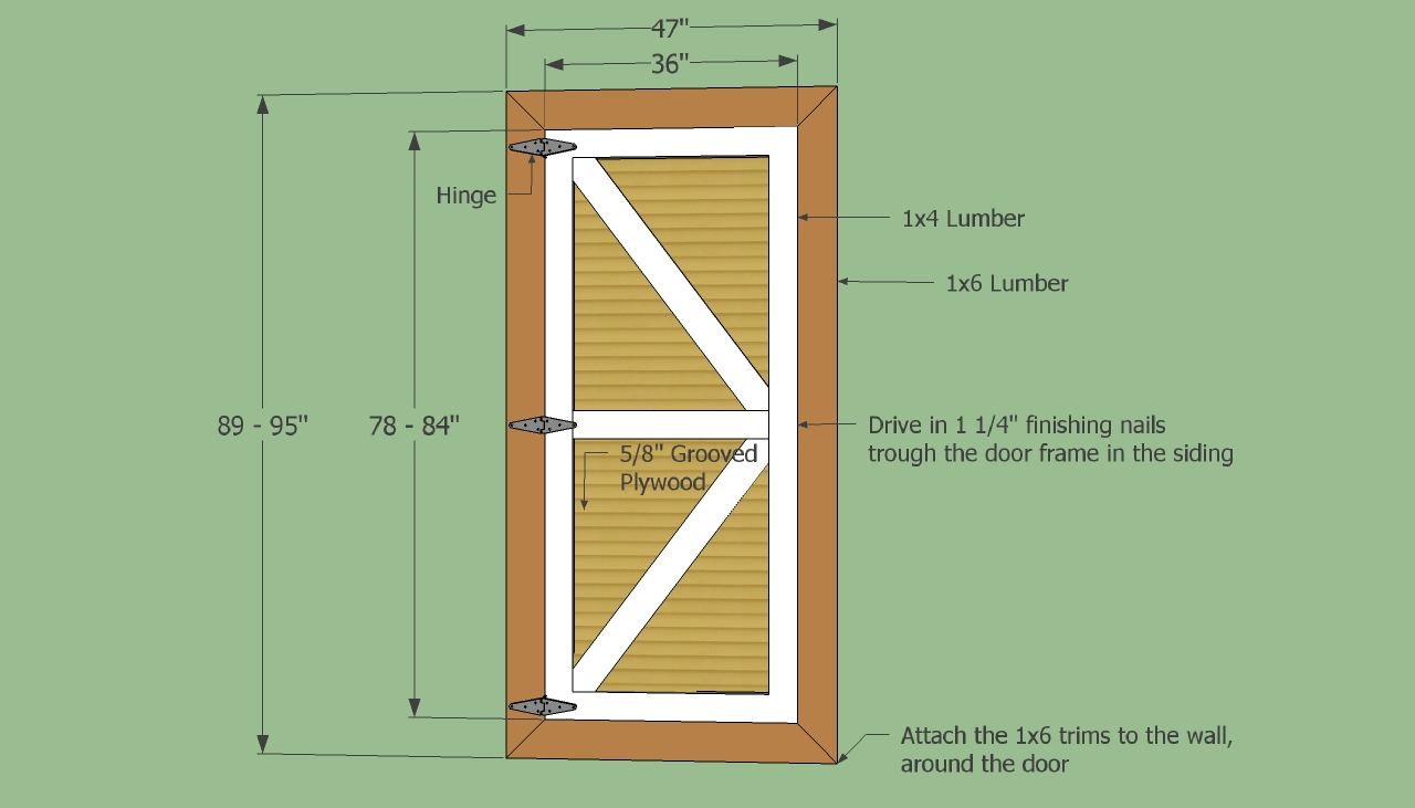 Shed door designs in demand of shed plans a fast outline for Plywood door design