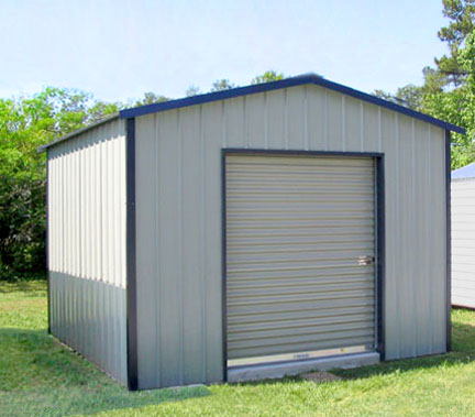 Storage building shed plans kits for 12x12 roll up garage door