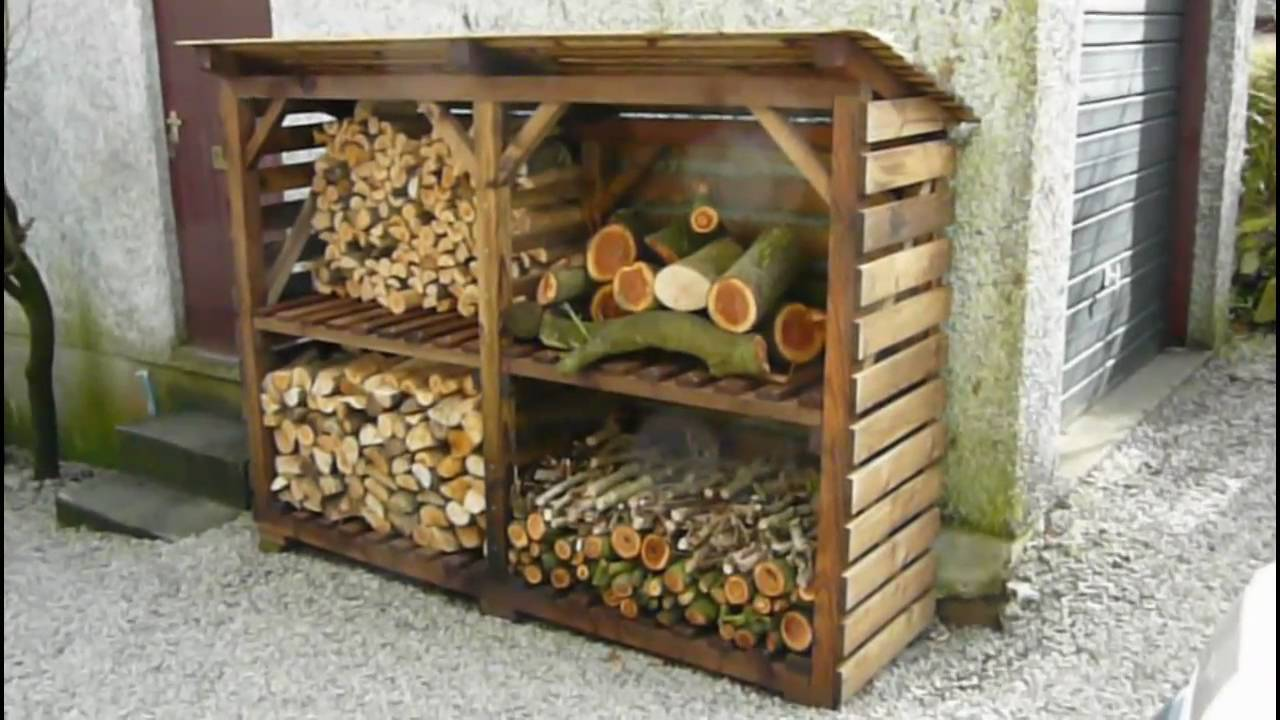 Log shed plans plans for building a shed shed plans kits for Log storage ideas