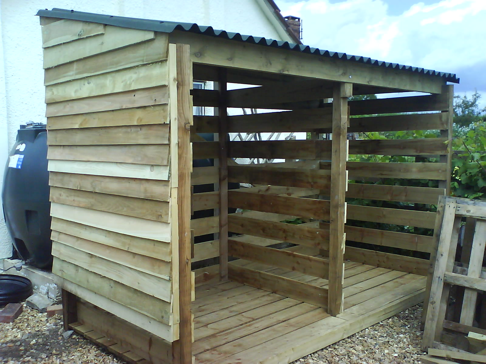 Plans for building a firewood shed quick woodworking for Wood shed plans