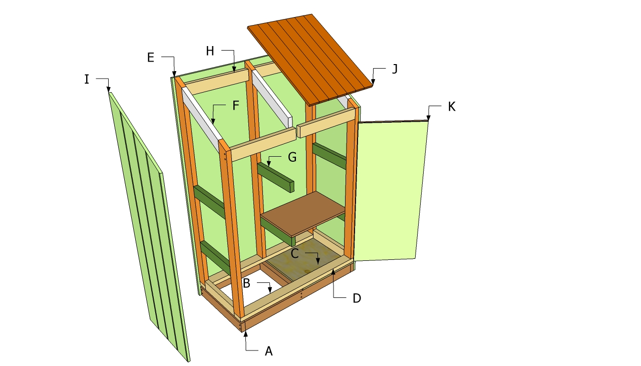 Wooden tool sheds comparing open cell and closed cell for Wood shed plans