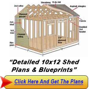 10x12 Shed : Gambrel Shed Plans - Build The Shed That You Altechniques ...