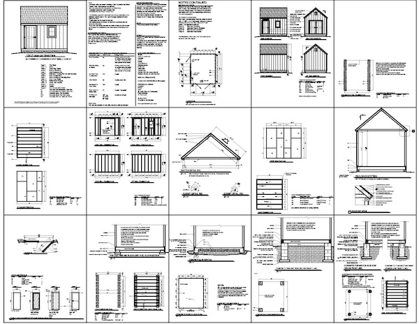 10 12 shed blueprints how it is possible to build for Shed building plans pdf