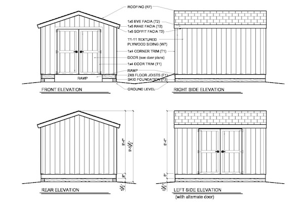10×12 Shed Blueprints : How It Is Possible To Build ...