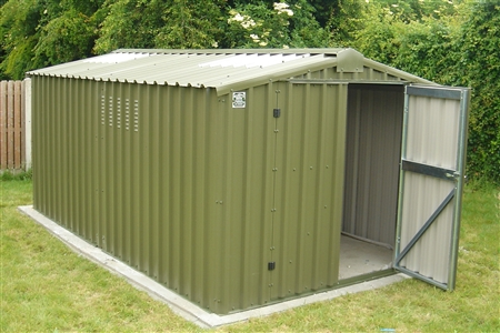 Aluminium shed building your shed base concrete or for Steel shed plans free