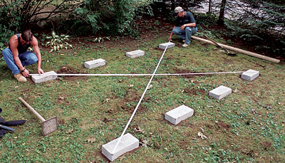 Backyard shed foundation shed plans the way to choose for How to square a building foundation