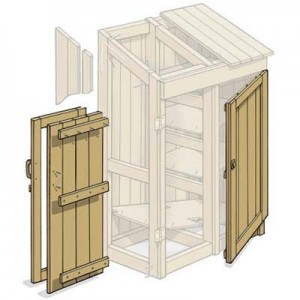 Detail Build Shed Door Plywood Guide In Building