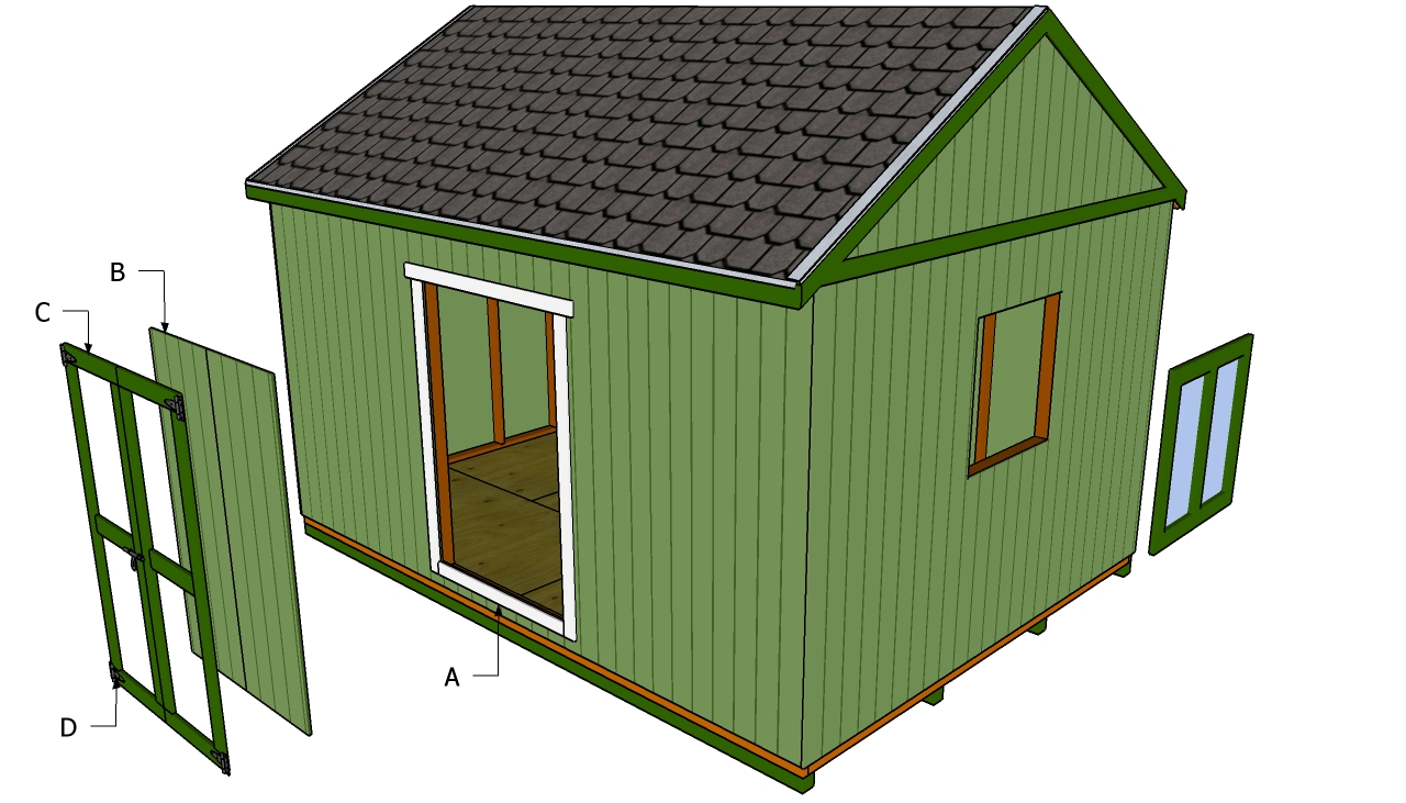 Building A Shed Door : Diy Shed Plans – Do It Yourself Shed Building