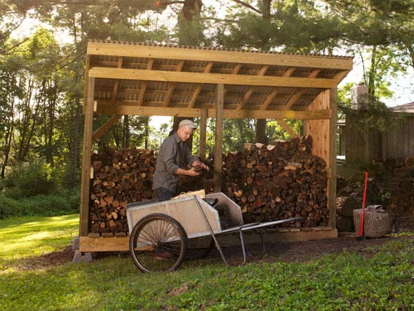 Log Wood Shed Plans