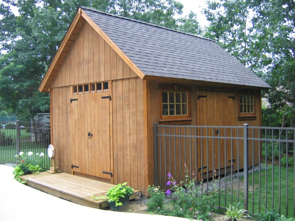 Building a wooden shed the best way to easily spot the for Wood shed plans