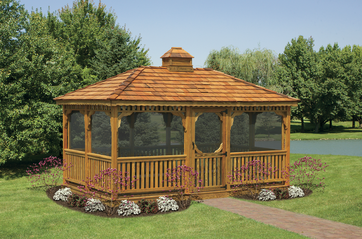 Gazebos wooden garden shed plans compliments of build Barn plans and outbuildings
