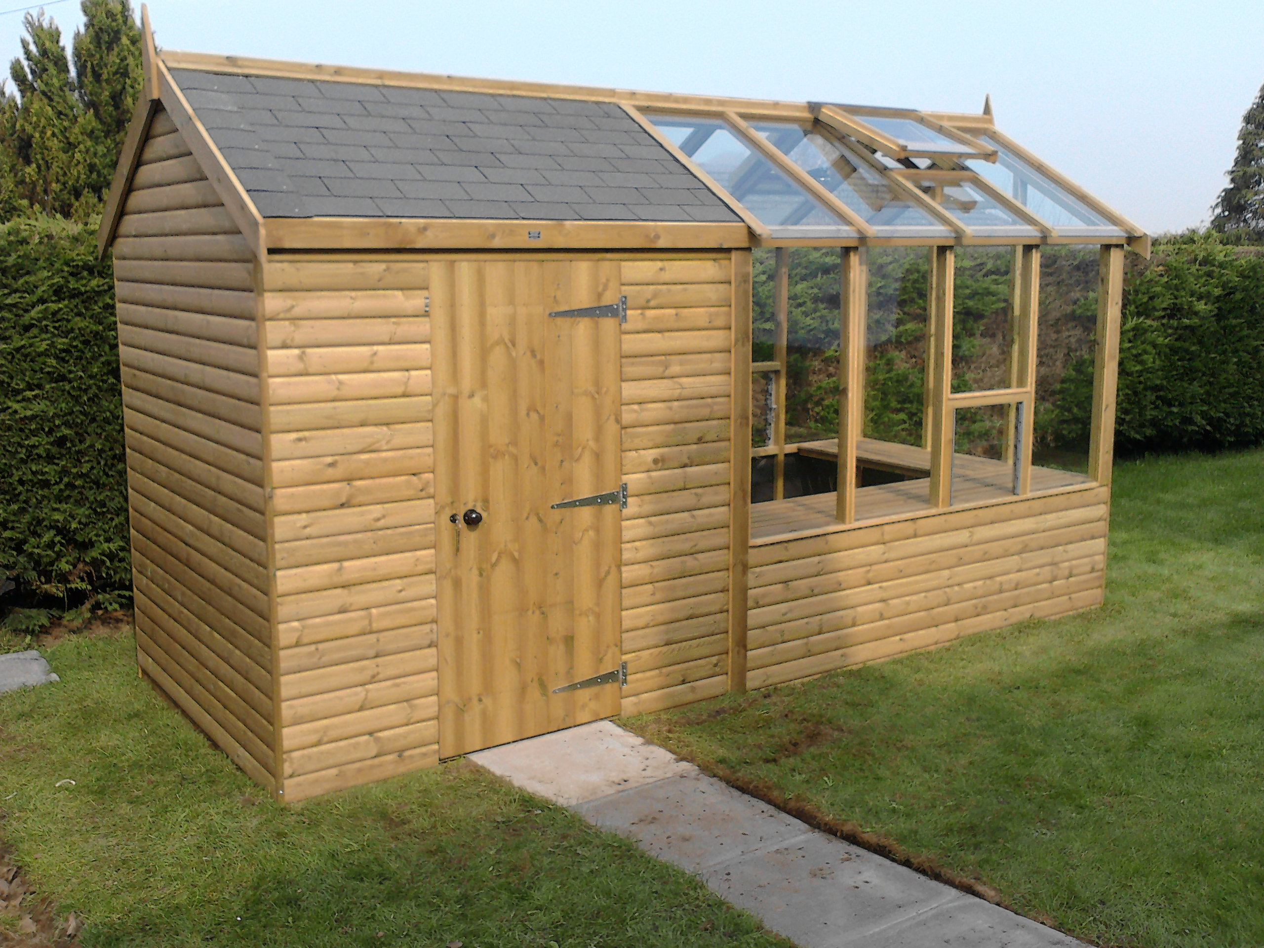 Greenhouse garden shed locating free shed plans on the for Garden shed designs