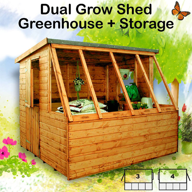 Simple cow shed design garden shed greenhouse combination for Potting shed plans diy blueprints