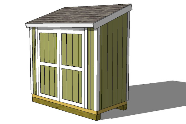 Lean to garden sheds build an affordable 10 12 shed for Lean to storage shed