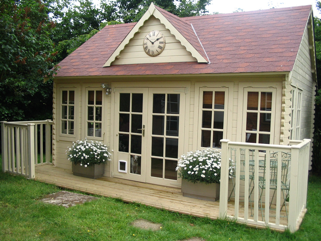 Log cabins garden significant poultry house construction for Build your own house cost calculator