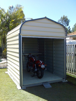 Motorbike Shed Wood Plans Guide Kits