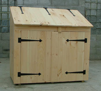 Wood Garbage Can Storage Plans