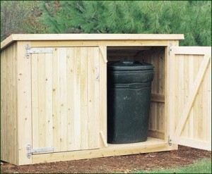 Outdoor Trash Shed