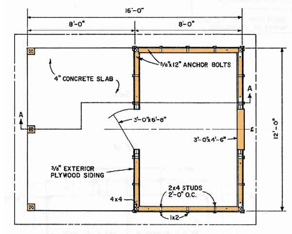 16 x 18 shed plans goehs 16x16 deck material list