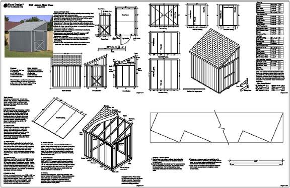 4 x 8 shed plans free