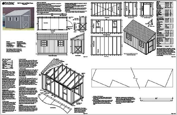 Shed plans 8 x 6 dan pi for Free barn blueprints