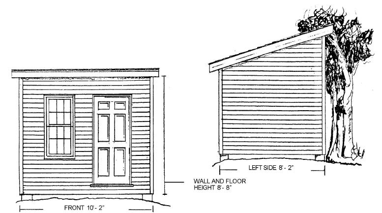 6 x 8 shed plans free straightforward ways on the way to for Shed building plans pdf