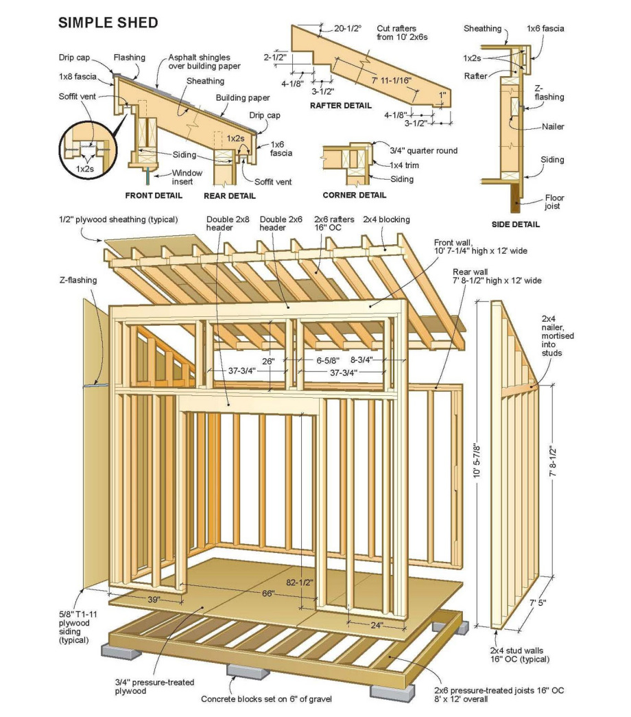 6 6 shed plans free choosing between free shed plans or for Shed design plans