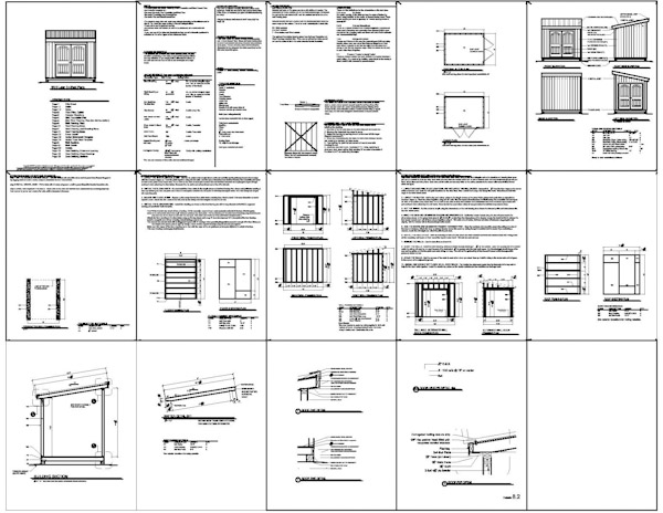8 10 shed plan suggestions to help you build a man cave for Man cave shed plans