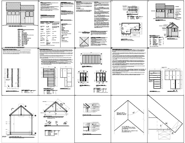 8 10 shed plan suggestions to help you build a man cave for Shed building plans pdf