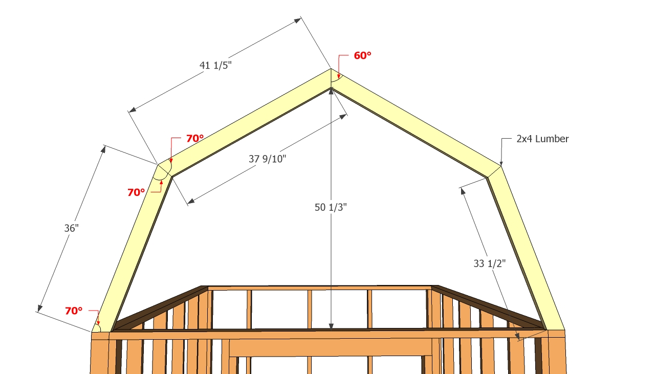 10x12 gambrel shed plans free download pdf woodworking for Gambrel pole barn plans