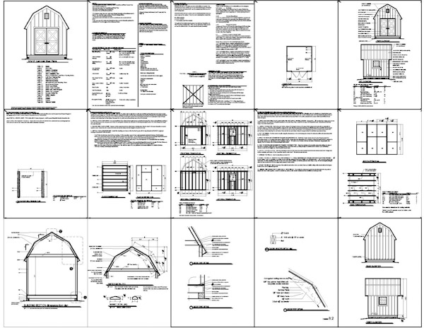Barn shed plan pole shed plans building your personal for Pdf shed plans