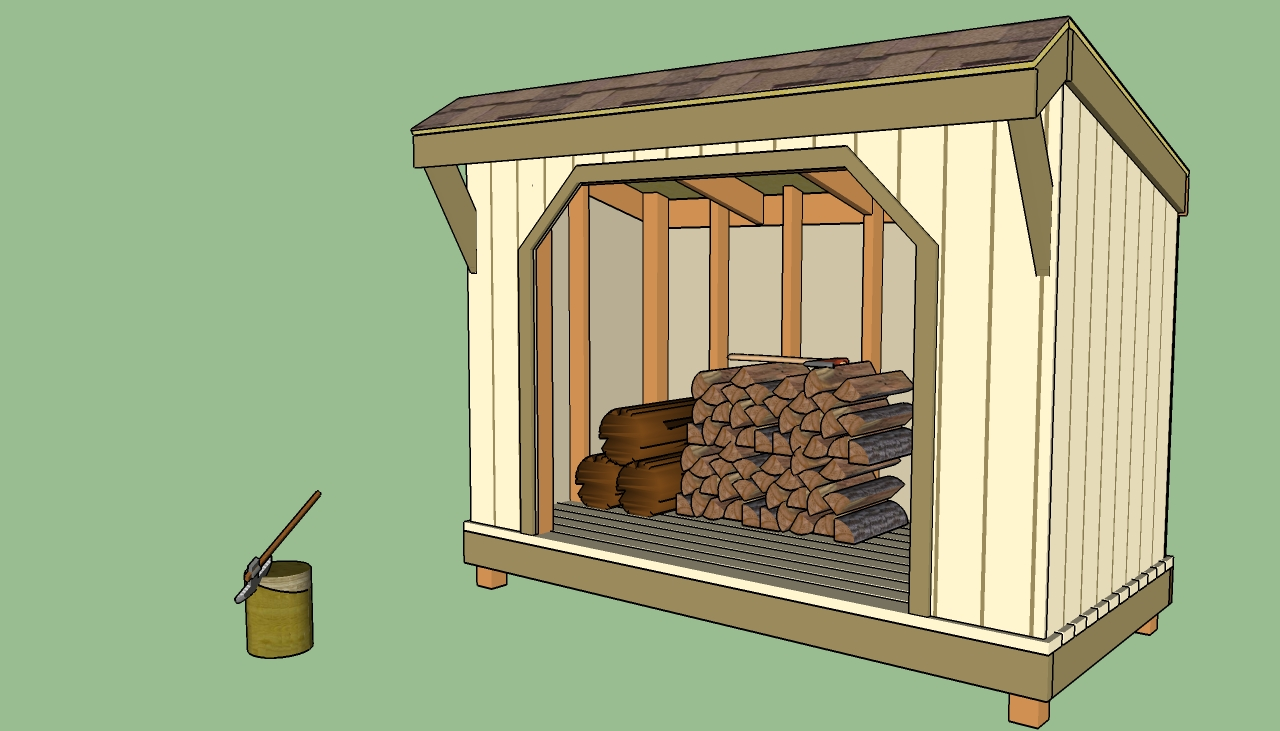 Plans To Build A Firewood Storage Shed Quick Woodworking