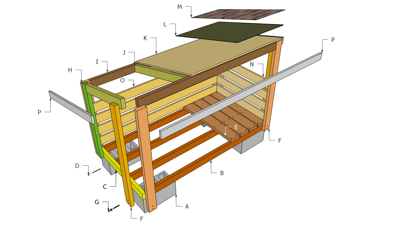 Firewood shed plans storage shed plans your helpful for Outside buildings design