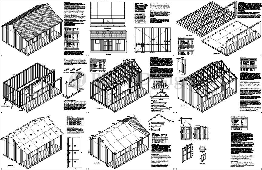 30x40 hip design pole barn blueprints joy studio design for Shed plans and material list