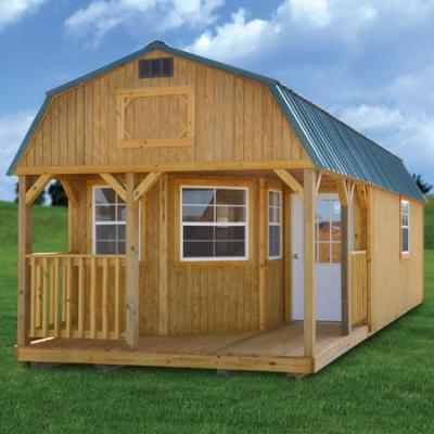 Lofted barn cabin what do you call for to build a wood for Barn wood cabins
