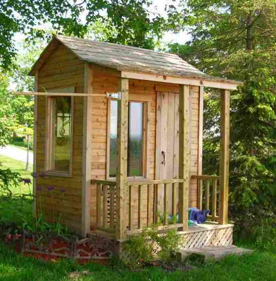 Outdoor shed plans free shed plans kits for Mini potting shed