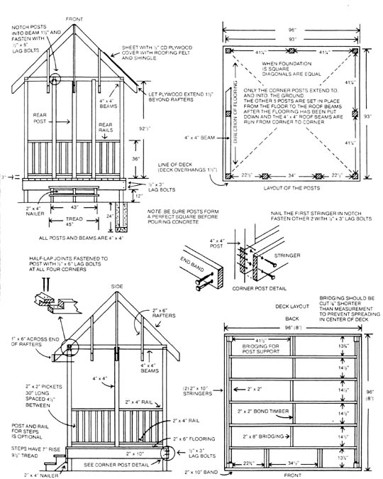 plans gazebo the best way to build a lean to shed 8
