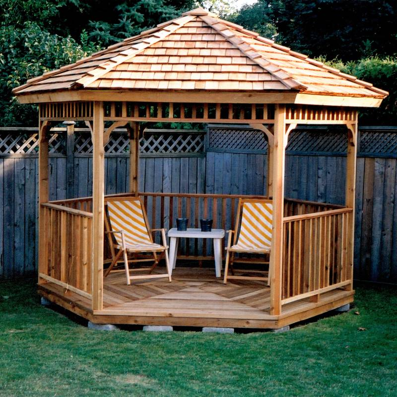 Plans gazebo the best way to build a lean to shed 8 for Average cost to build a pavilion