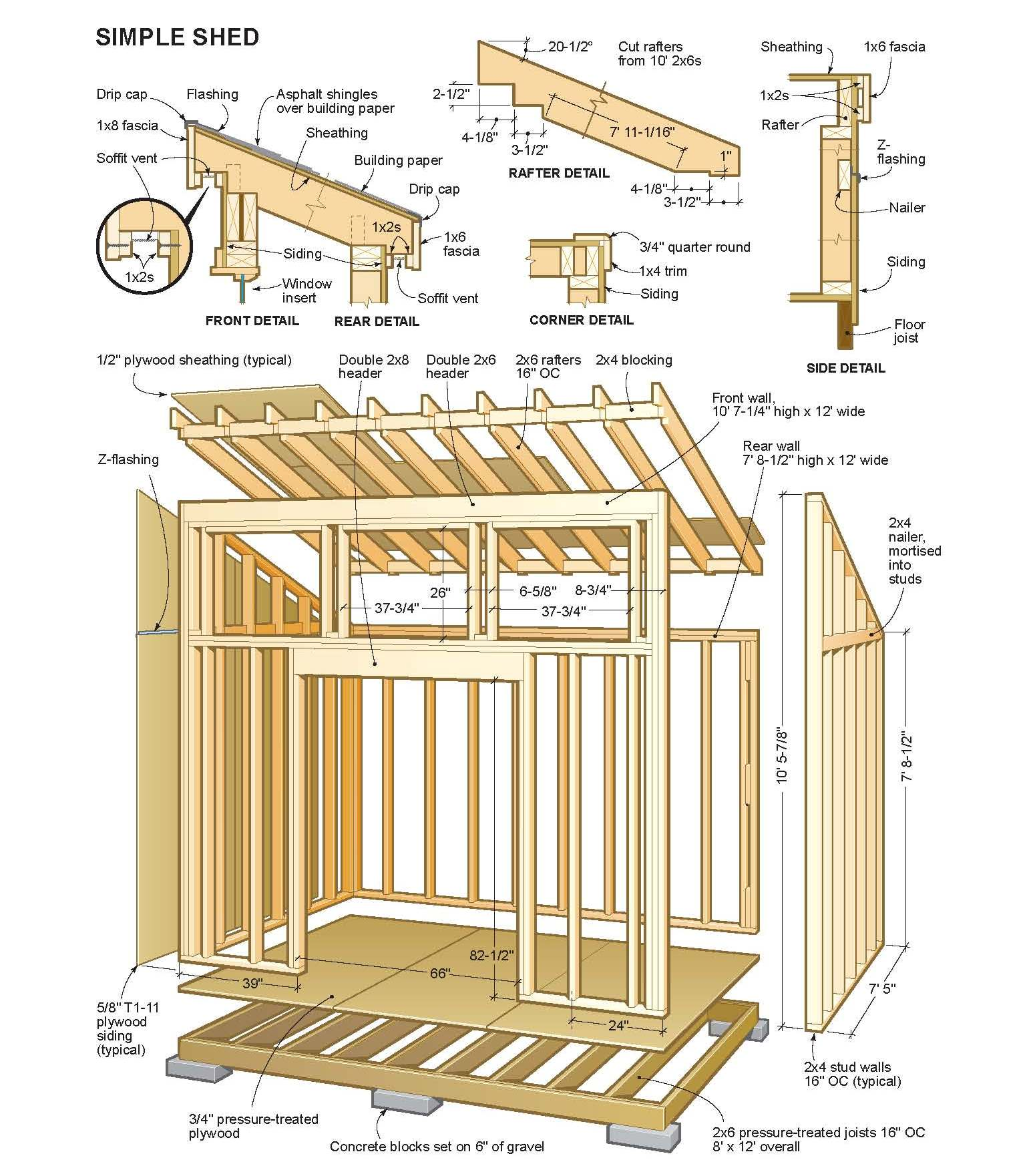 how to build a 10x12 wood shed