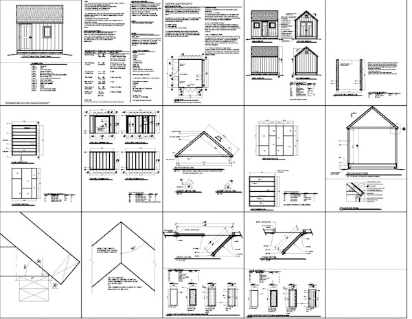 Shed plans 12 x 10 free making a decision about free or for Barn blueprints free plans