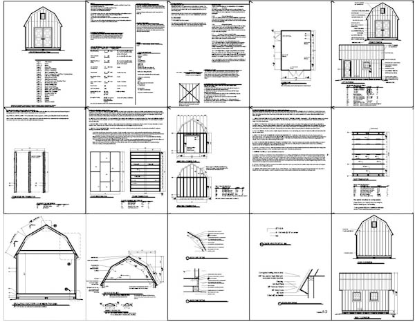 Shed plans 12 16 build a shed in a weekfinish with my for Free barn plans with loft