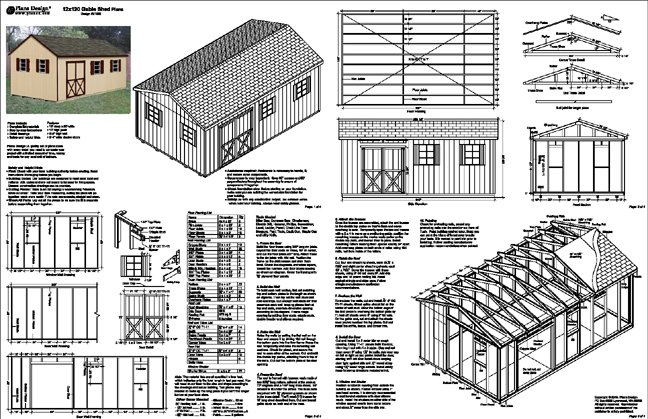 Shed plans 12 20 potting shed plans do you require a for Material list for garage